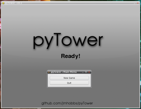 The main menu, Qt4 + pygame.