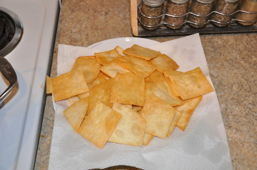 Home Fried Flour Tortilla Chips