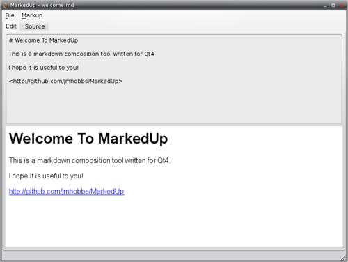 The MarkedUp Editor