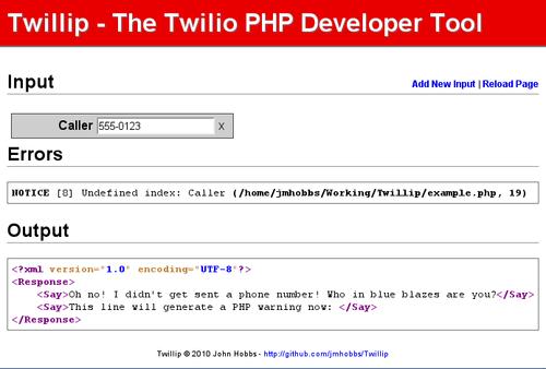 Twillip - New Input